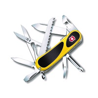 VICTORINOX 2.4913.SC8 Evolution Grip S18 Yellow Swiss Army Knife  - Authorised Aust Retailer