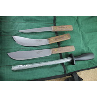 OLD HICKORY 5 PCE KIT - Roll, Steel, Slicing, Skinning, Boning - Authorised Aust. Retailer