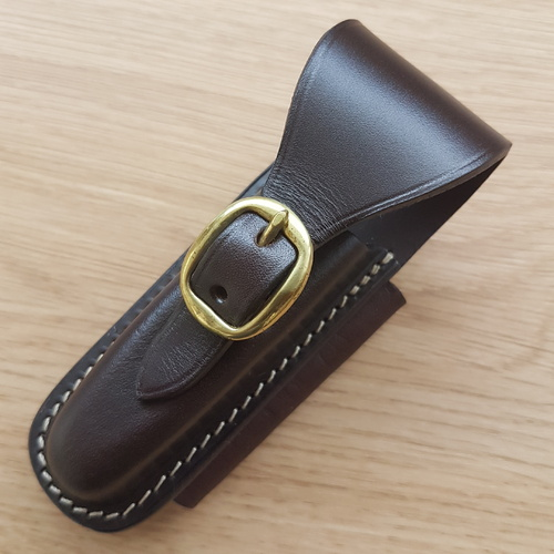 POUCH - Horizontal Lay with Buckle - Suits Trapper Style Knives